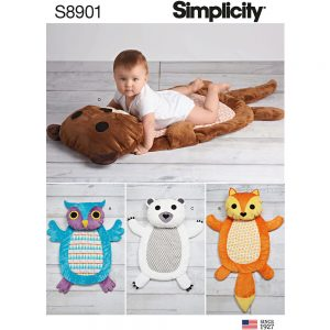 Simplicity 8901 Baby Tummy Time Animal Mats