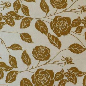 100% Cotton Poplin, Floral print (Ochre)
