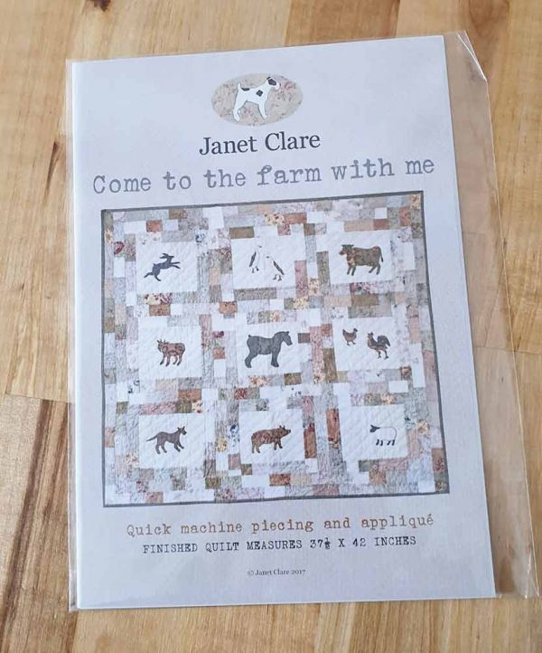 Janet Clare Quilt Pattern: Come to the Farm With Me