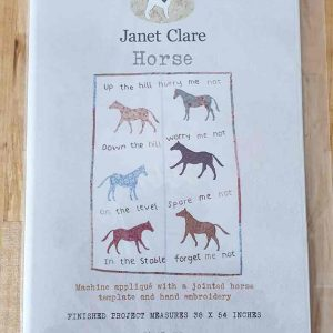 Janet Clare quilt pattern: Horse