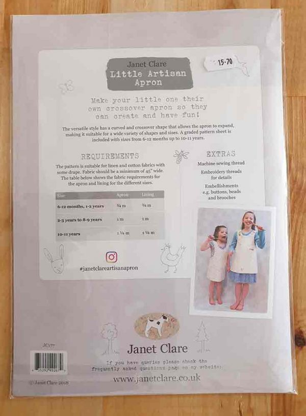 Janet Clare: Little Artisan Apron