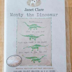 Janet Clare quilt pattern: Monty the Dinosaur
