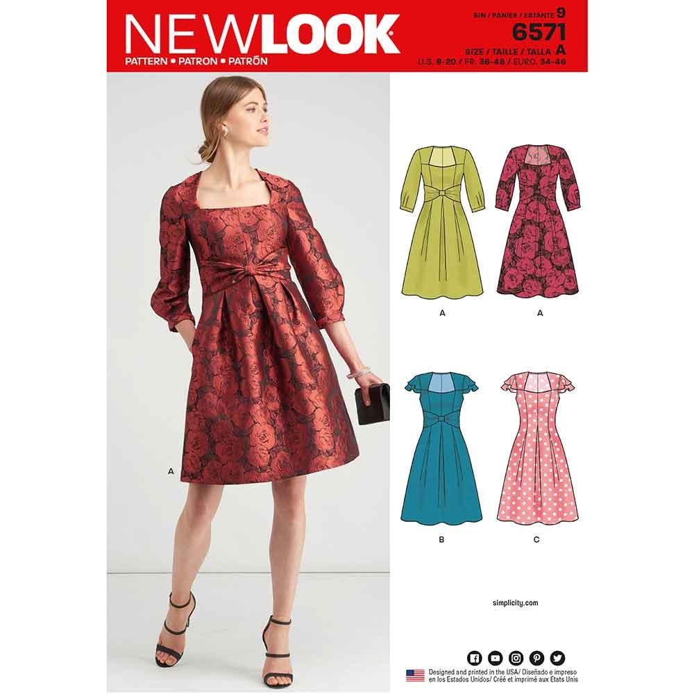 b4896360189f New Look Pattern 6571 Misses' Dresses - Sew Irish