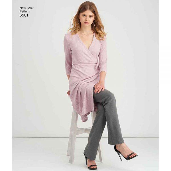 New Look Pattern 6581 Misses' Easy Knit Sportswear