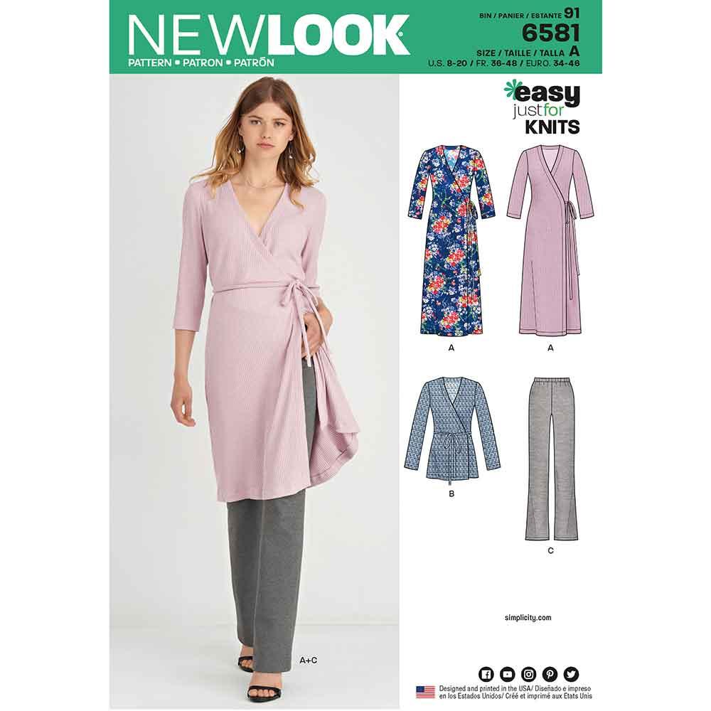 c2b4738ce91 New Look Pattern 6581 Misses  Easy Knit Sportswear