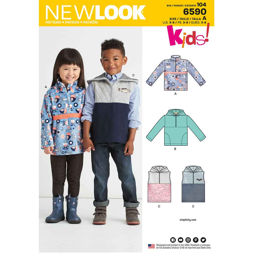 New Look Pattern 6590 Child's Pullover Vest or Top