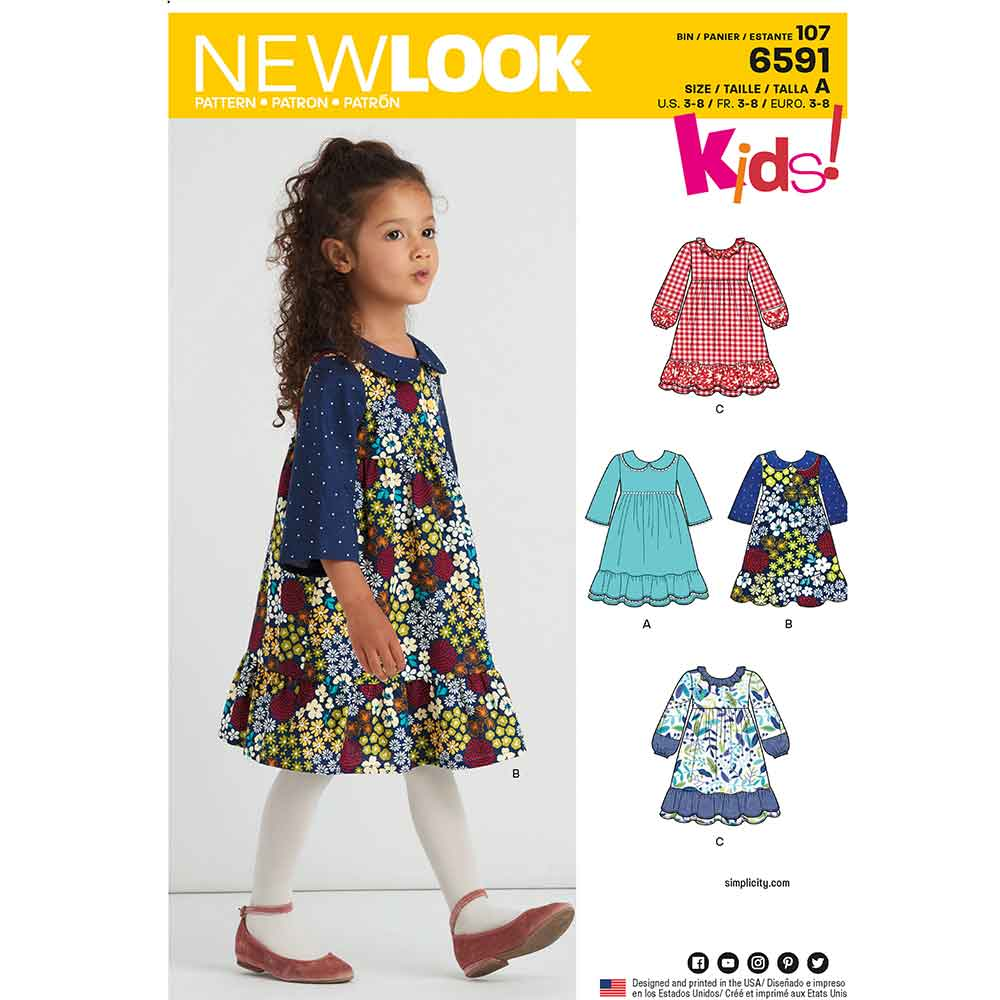 New Look Pattern 6591 Child's Dress