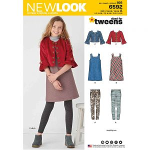 New Look Pattern 6592 Girl's Sportswear