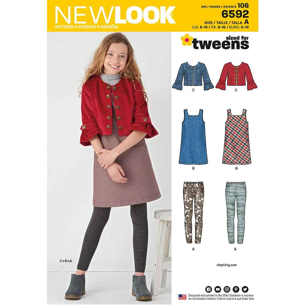New Look Pattern 6592 Girl's Sportswear