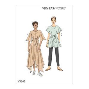 V9363 Misses' Tunic, Dress and Pants