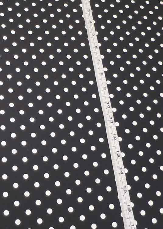 Black and white polka-dot crepe-de-chine