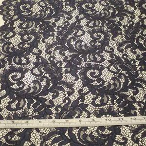 Corded lace, navy