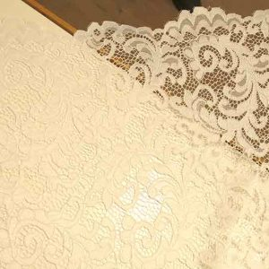 Corded lace, white