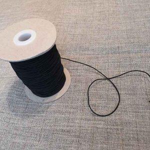Black 1mm millinery elastic