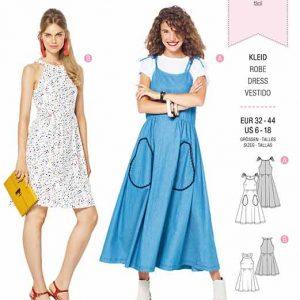 Burda B6311 Misses' bare shoulder dress