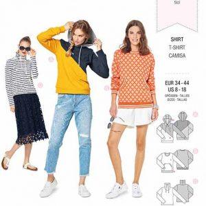 Burda B6315 Misses' hoodie