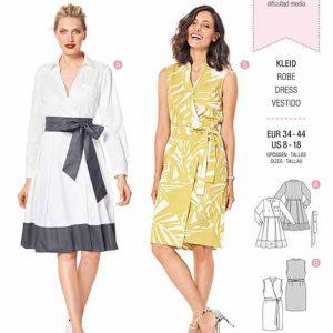 Burda B6338 Misses' wrap dress