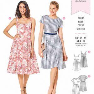 Burda B6343 Misses' pinafore dress