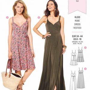 Burda B6344 Misses' wrap dress