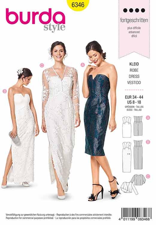 Burda B6346 Misses' special occasion dress