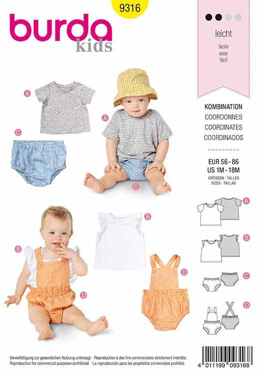 Burda B9316 Baby's sportswear