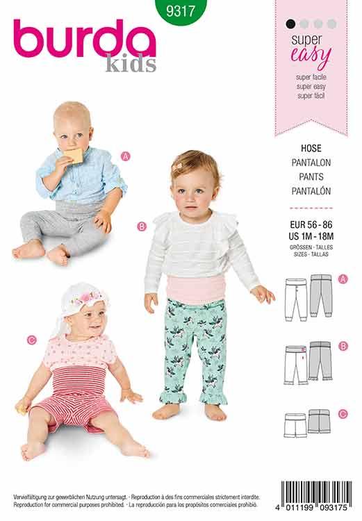Burda B9317 Baby's pants