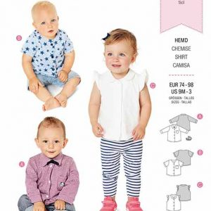 Burda B9318 Baby's top with bow tie