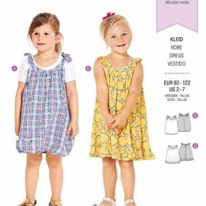 Burda B9320 Child's pinafore dress