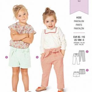 Burda B9323 Toddler's elastic waist pants