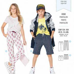 Burda B9324 Child's elastic waist pants