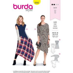 Burda B6352 Women's Shirt Dress