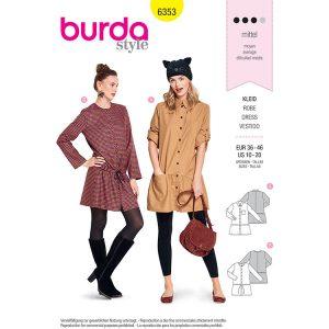 Burda B6353 Women's Shirt Blouse