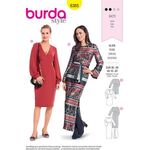 Burda B6365 Women's Dress