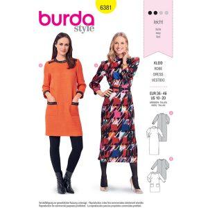 Burda B6381 Women's Retro Dress