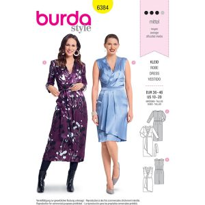 Burda B6384 Women's Wrap Dress