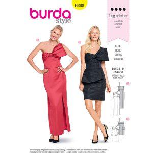 Burda B6388 Women's Dress with Bow