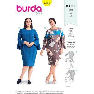Burda B6389 Women's Shift Dress