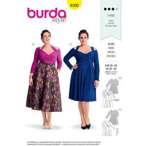 Burda B6390 Women's Dress