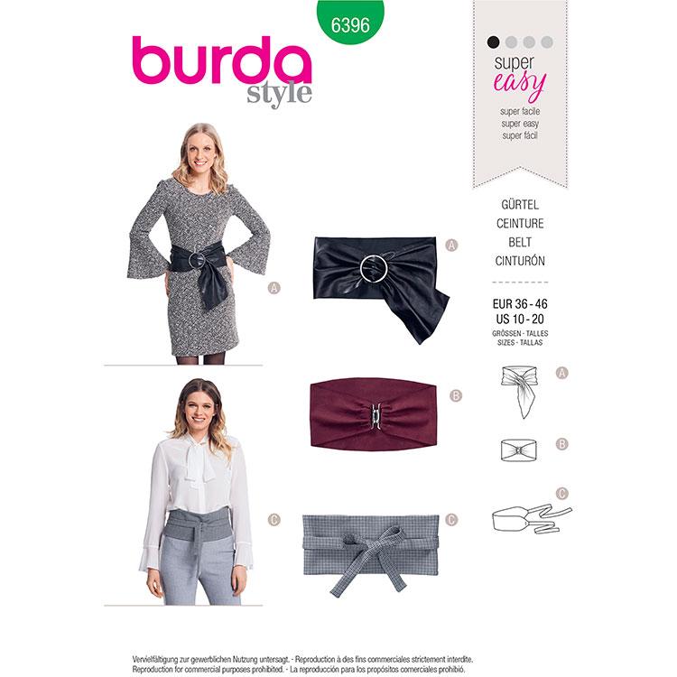 Burda B6396 Belt Variations
