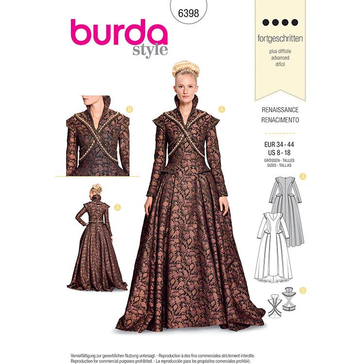 Burda B6398 Women's Renaissance Dress