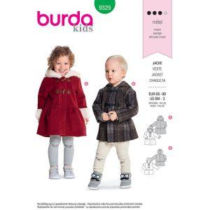 Burda B9329 Toddler's Coat