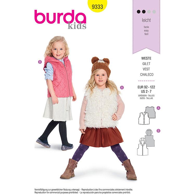 Burda B9333 Child's Fur Vest
