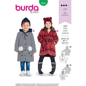 Burda B9334 Child's Hooded Jaceket