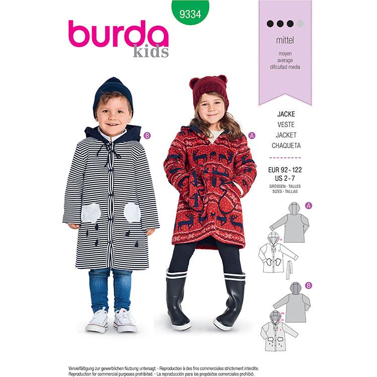 Burda B9334 Child's Hooded Jaceket