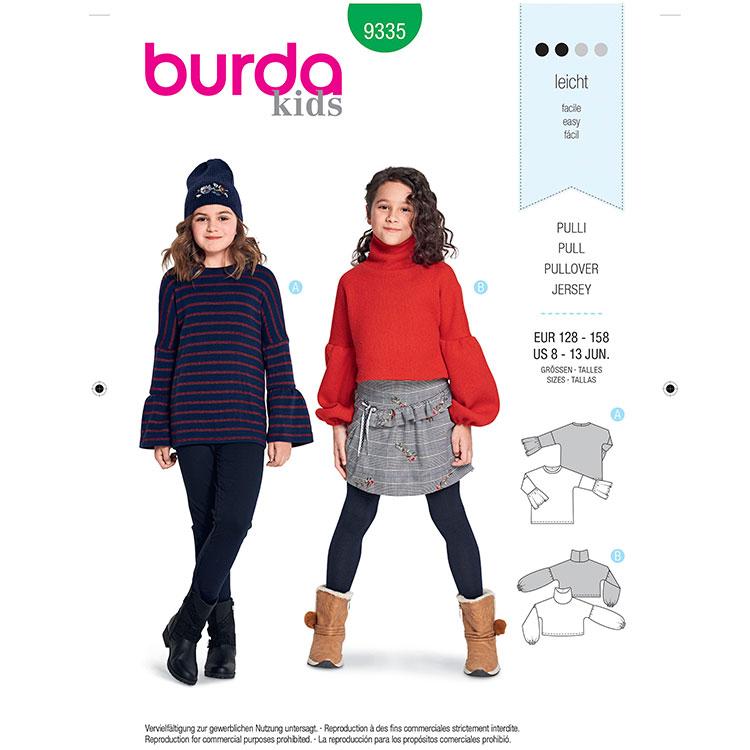 Burda B9335 Child's Pullover