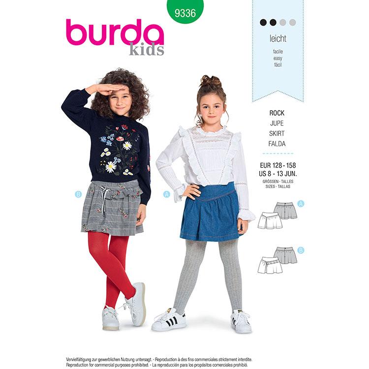 Burda B9336 Child's Skirt
