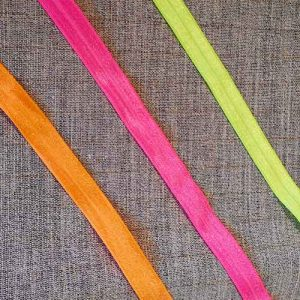 Fold over elastic, luminous colours, 16mm