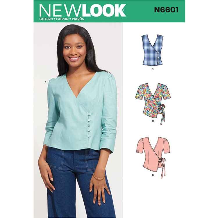 New Look Sewing Pattern N6601 Misses' Tops