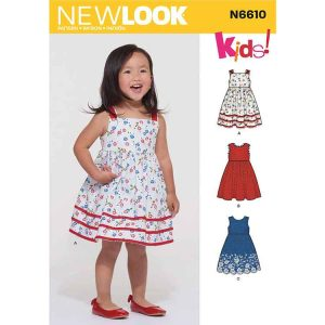 New Look Sewing Pattern N6610 Toddlers' Dress