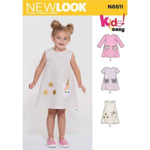 New Look Sewing Pattern N6611 Children's Novelty Dress
